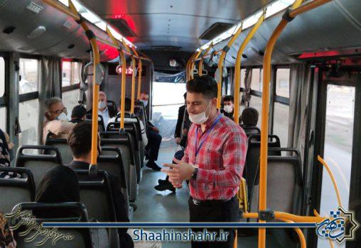 اجرای طرح حمل و نقل هوشیار عمومی در اتوبوس شاهین شهر